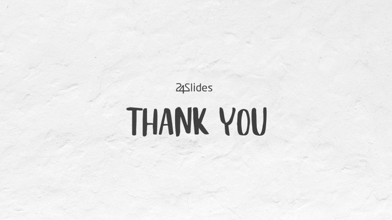 Simple Thank You Slide with white background