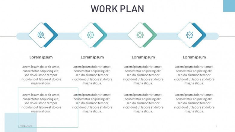 Work Plan Timeline Slide