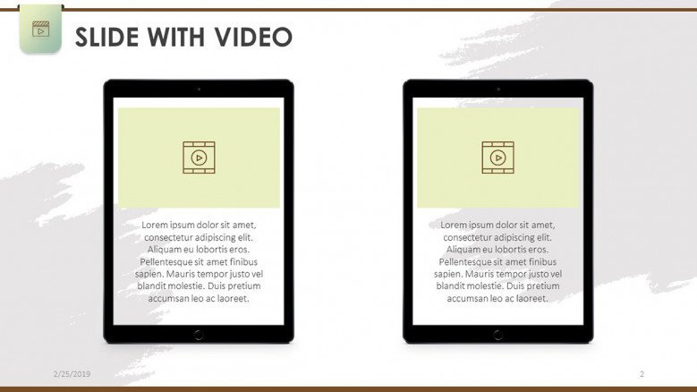slide with video mobile app in ipad