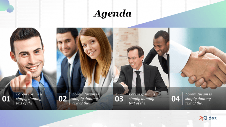 photos of multiple people setting the agenda