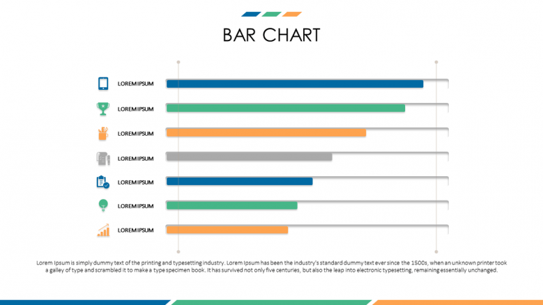 business bar chart with icons