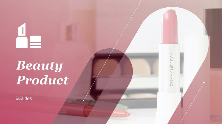 Beauty Products PowerPoint Template Free Download