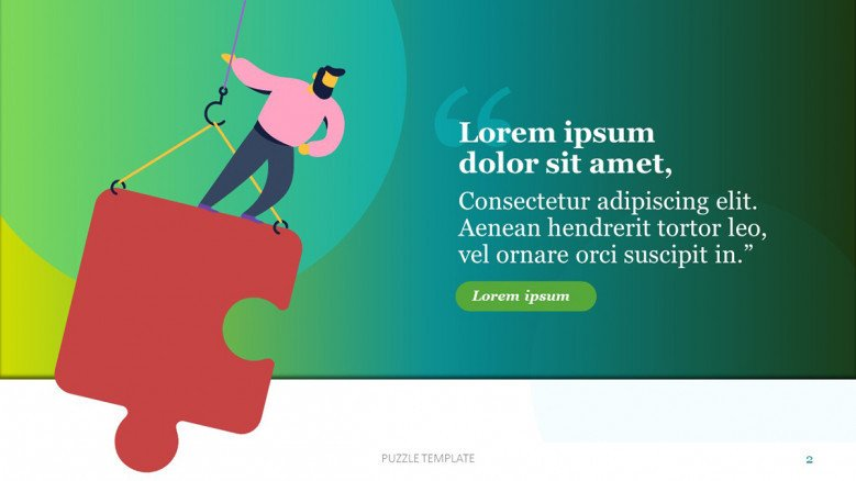 Amazing Quote slide with jigsaw piece illustration