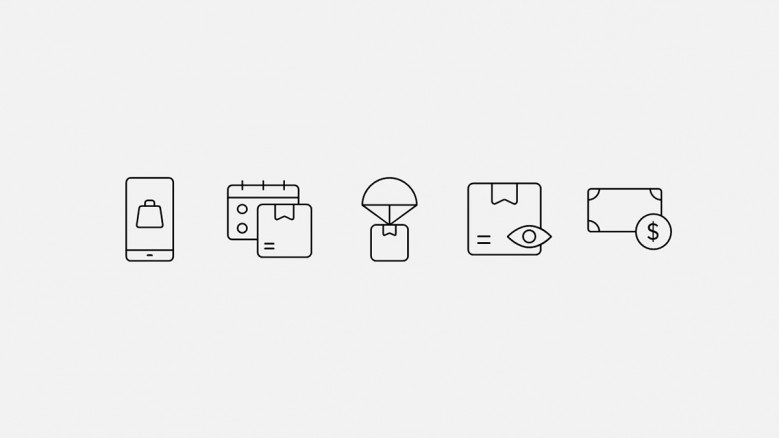 Electronic Commerce Icons for PowerPoint presentations