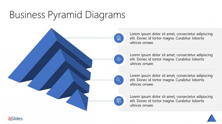 3D Pyramid Chart Template with four layers