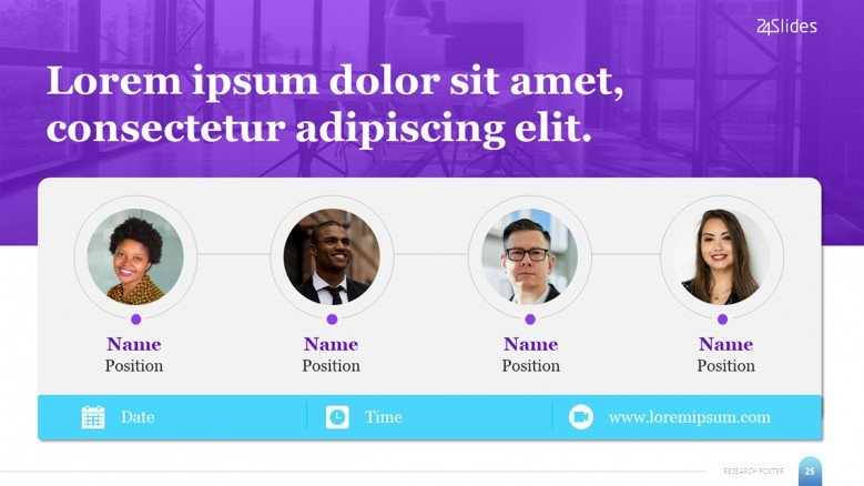 Impactful Webinar Banner Template with four speakers