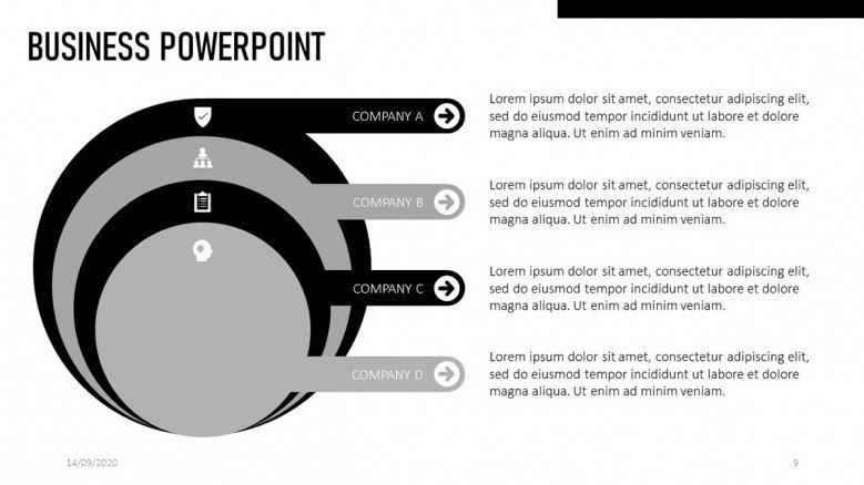 Four Circle diagram for business presentations