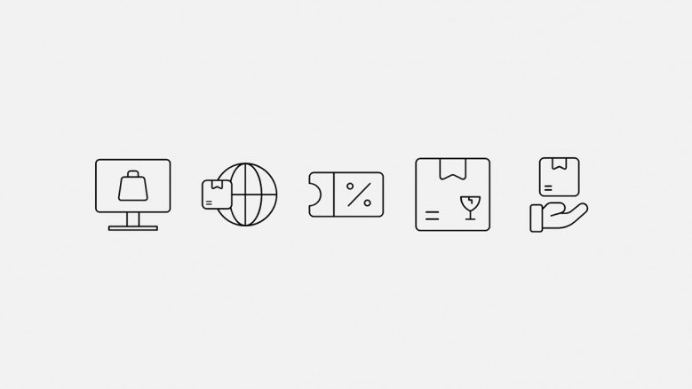 E-commerce and data privacy icons