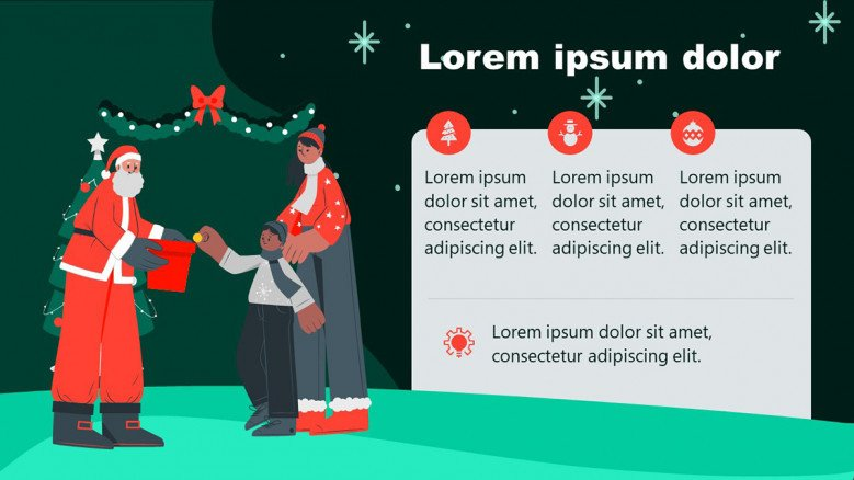 Playful Christmas PowerPoint Slide