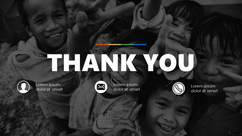 Dark-themed Thank You Slide for an autism presentation