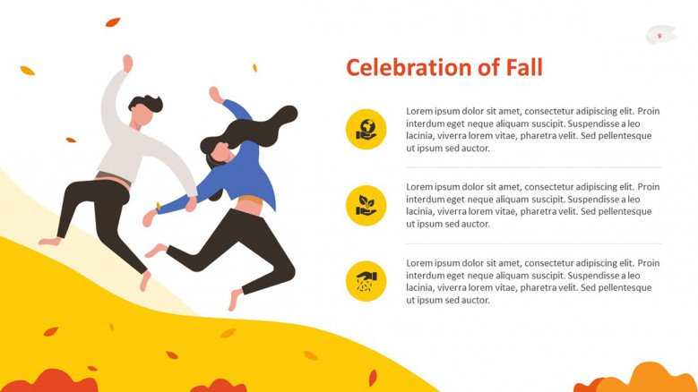 Celebrations of Fall Text Slide