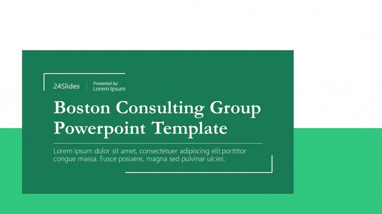 Boston Consulting Group PowerPoint Template in green
