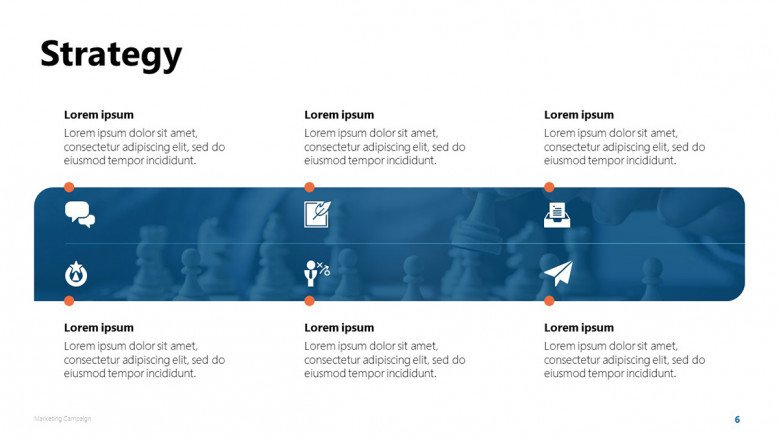 Marketing Campaign's Strategy PowerPoint Slide