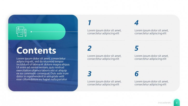Blue Content PowerPoint Slide