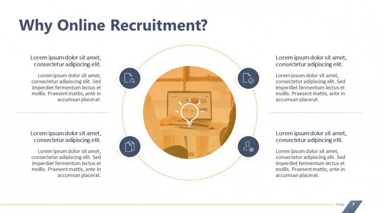 Circle Diagram for Online Recruitment Benefits