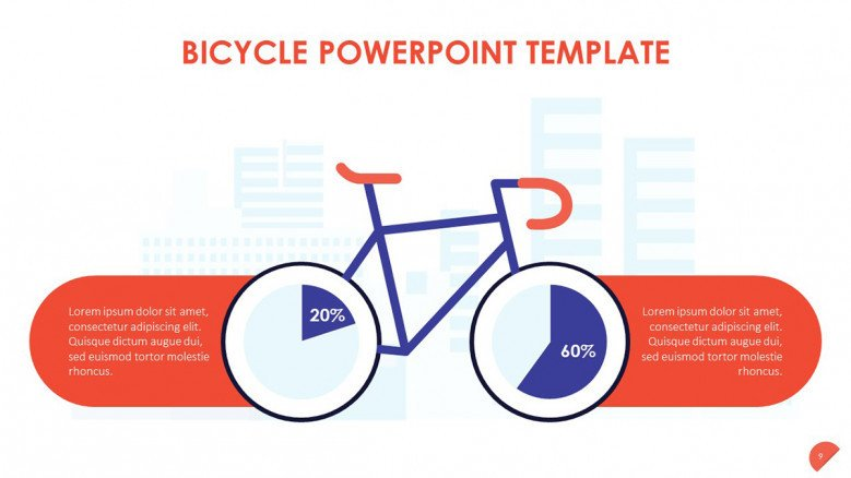Bicycle Data Slide with pie charts