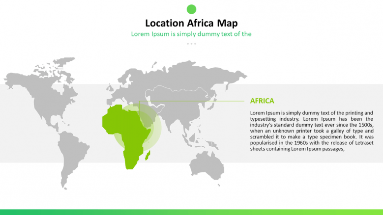 africa location map with text