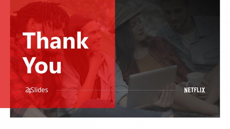 Thank You Slide in red and black