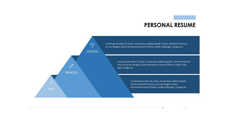 personal resume funnel chart in three stages