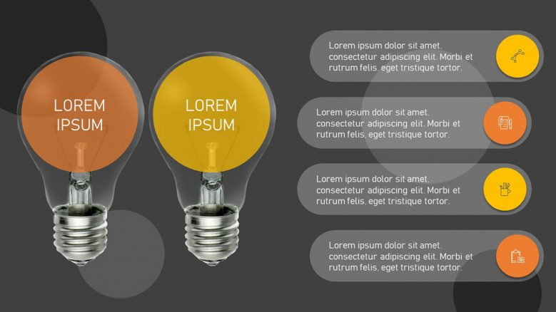 Two light bulbs to highlight concepts