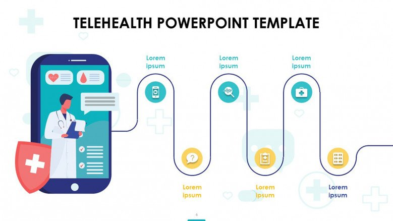 Telehealth Roadmap Slide with icons