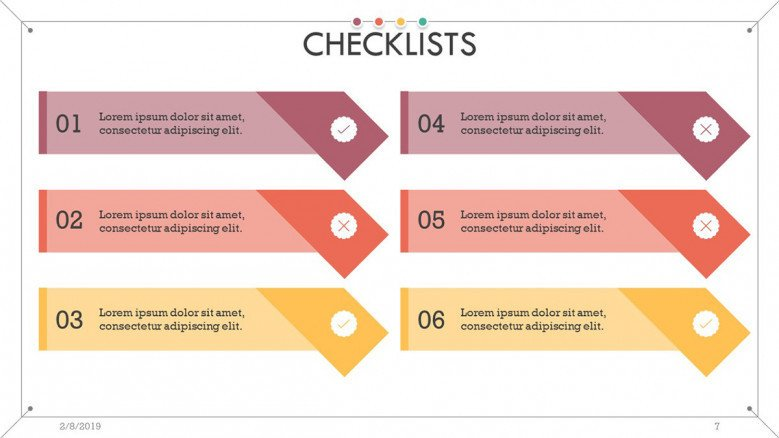 checklist presentation in key point steps