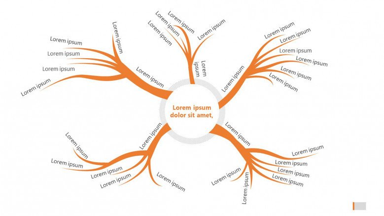 Creative mind map slide