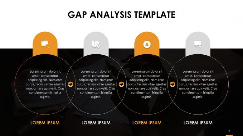 Venn Diagrams for a GAP Analysis Presentation in creative style