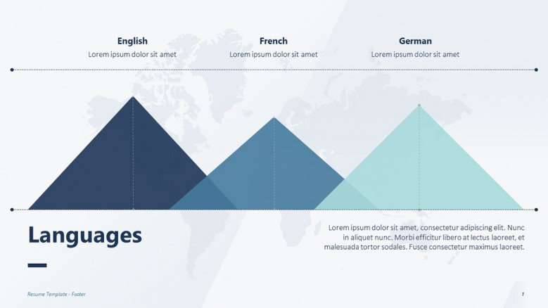Languages spoken for a creative resume presentation