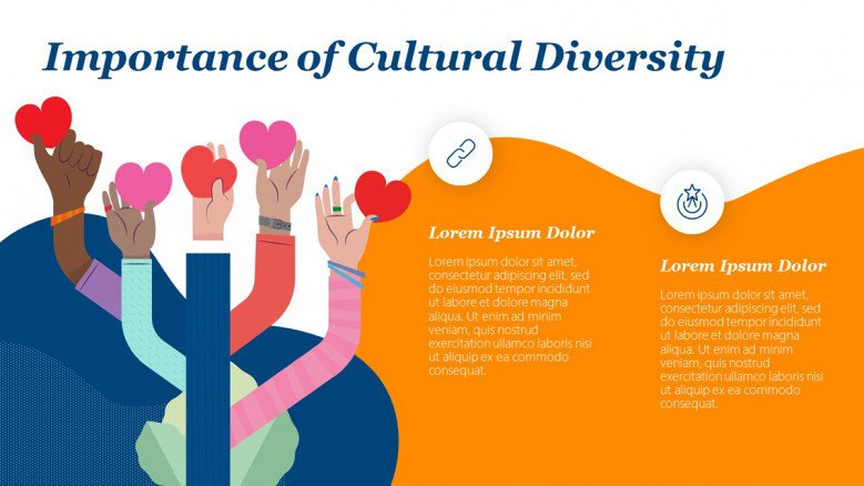 Cultural Diversity Importance Slide in playful style