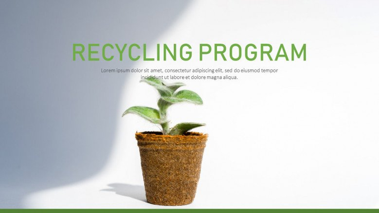 Recycling Program PowerPoint Template