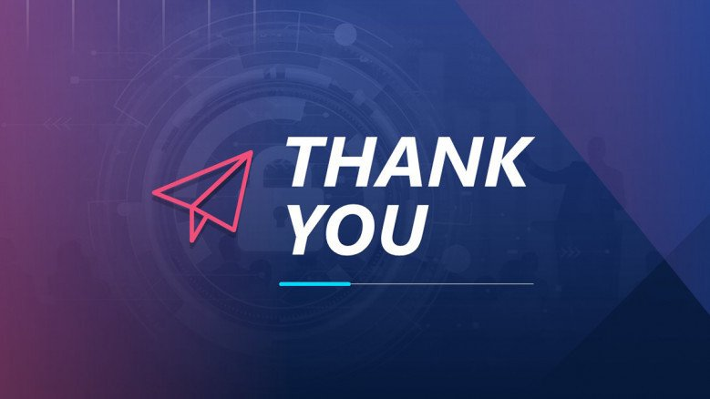 Purple Thank You PowerPoint Slide for modern presentations
