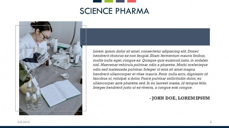 science pharma text slide with image