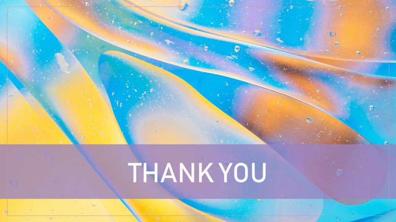 Thank You Slide in psychedelic colors