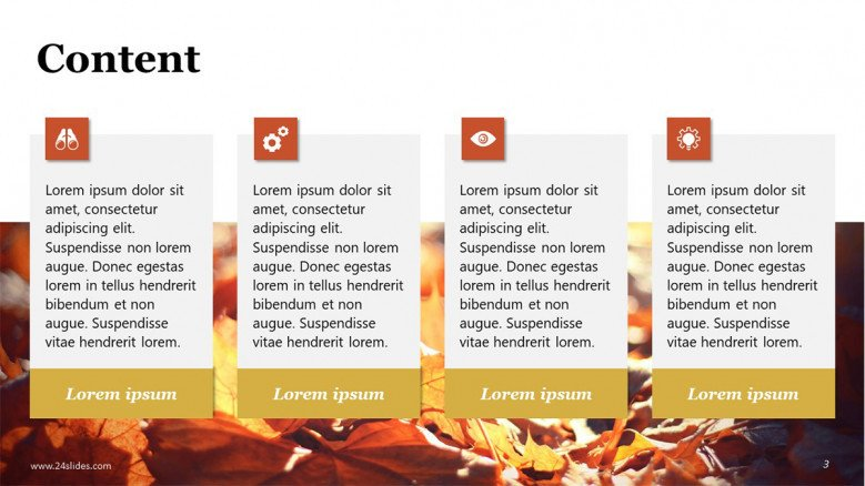 Fall PowerPoint Text slide