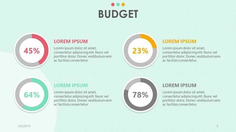 playful pie chart for budget analysis with data percentage