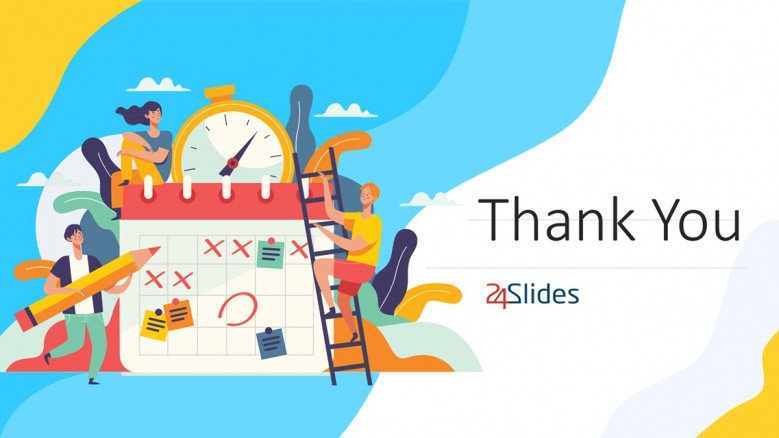 Colorful Thank You Slide in playful style