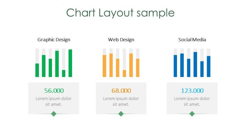 chart layout sample creative slide for halloween theme presentation