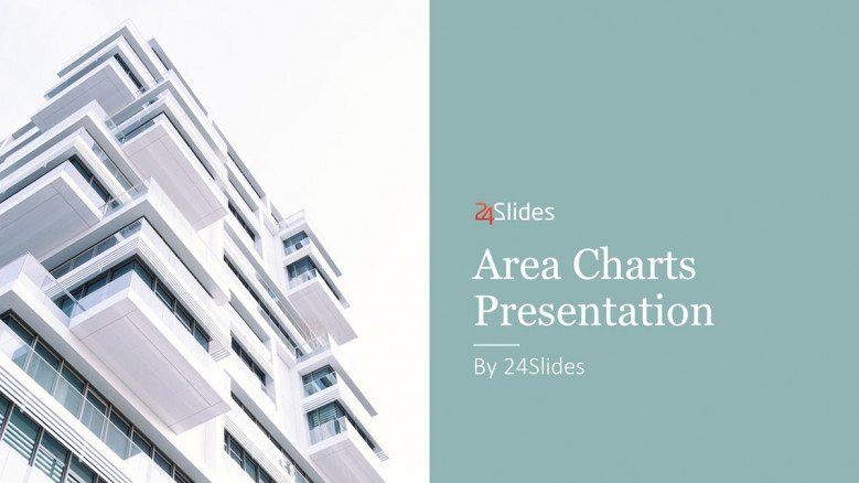 area chart welcome slide in corporate style