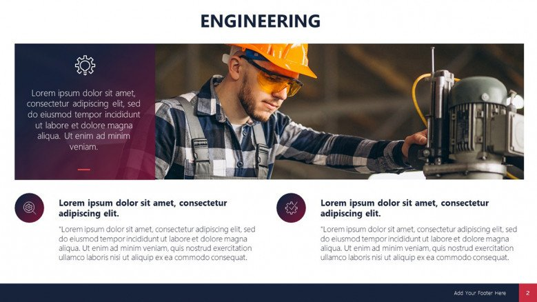 Text Slide for an Engineering Project managers