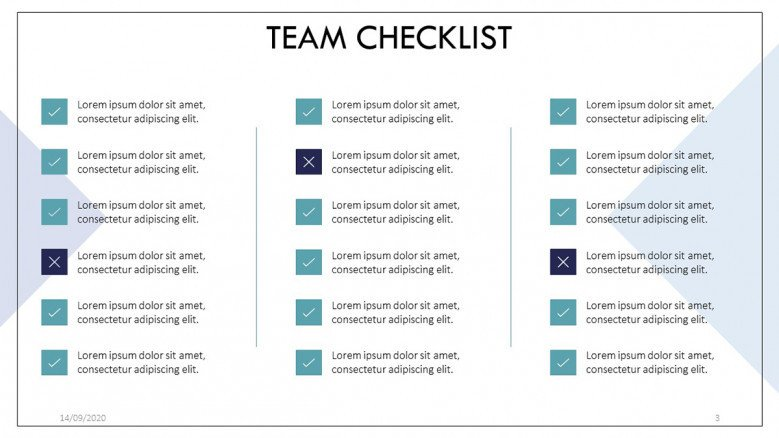 Corporate Checklist in Powerpoint