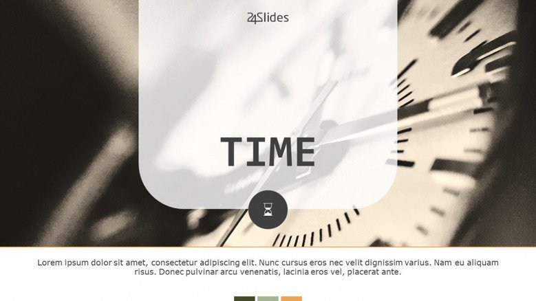 welcome slide for presentation on time