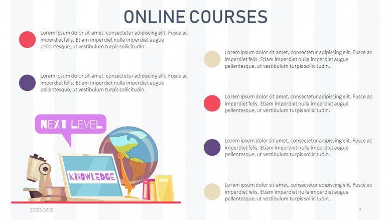 Summary slide for online courses