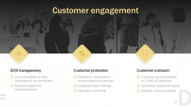 Customer engagement for Business Continuity