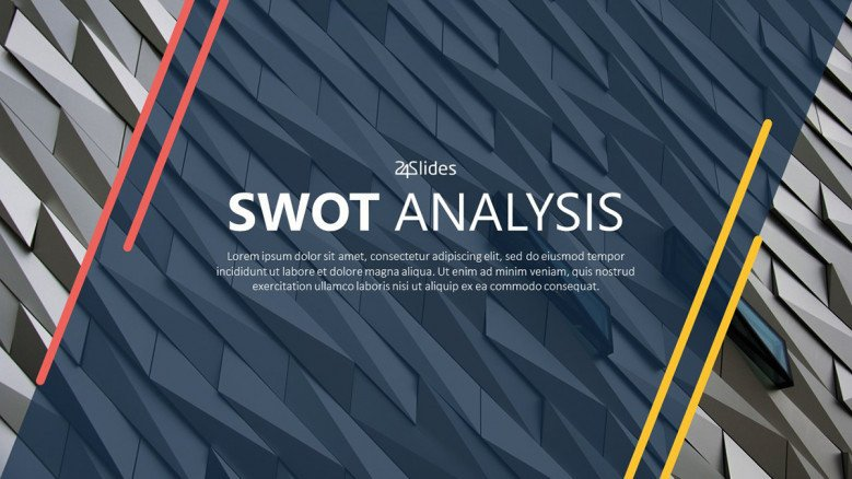 SWOT analysis welcome slide in corporate style