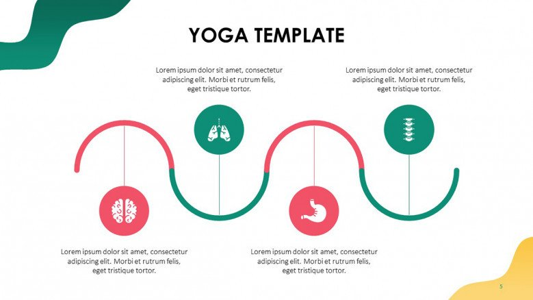 Four stages flow diagram with health icons
