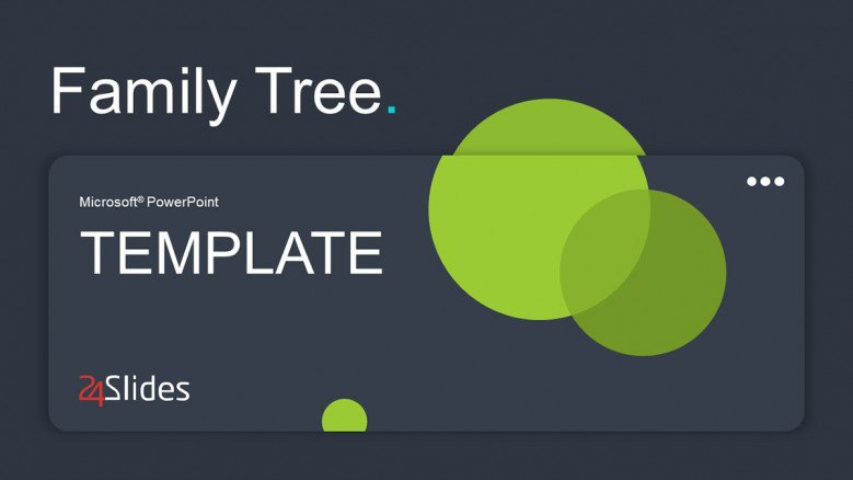 Simple Title Slide with green circles
