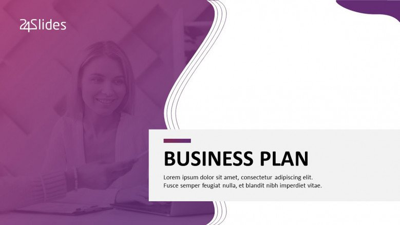Creative Title Slide for a Business Plan Presentation