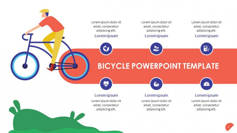 Bicycle Safety Tips Slide with icons
