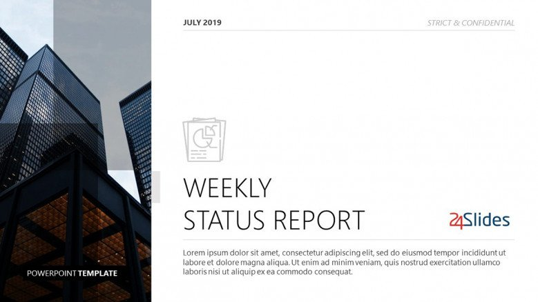 Corporate Title Slide for a Weekly Status Report